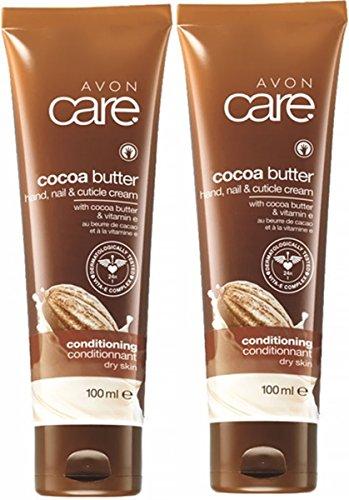 2 x Kakaobutter Revitalisierendes Feuchtigkeit Handcreme + vitamin E Hypoallergen Avon