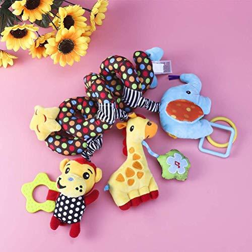 Yeeyf Juguetes colgantes de actividades espirales para bebé, bebé envolvente alrededor de la cuna, juguete de cochecito en espiral, juguete de asiento de coche de bebé, para asiento de coche móvil