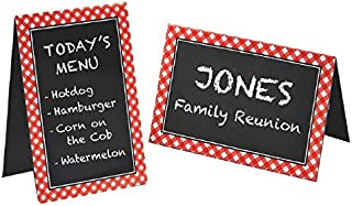 amscan Picnic Party Chalkboard Tent Cards, 4