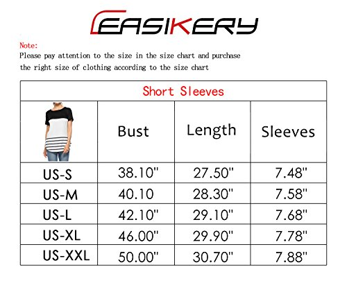 CEASIKERY Women's Summer Comfy Tunic Color Block Casual T-Shirt Short Sleeve Tops