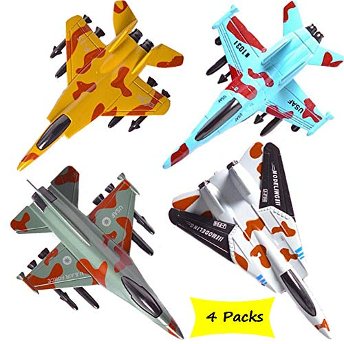 CORPER TOYS Airplane Toys Set Die Cast Metal Military Fighter Jets for Kids Boy...