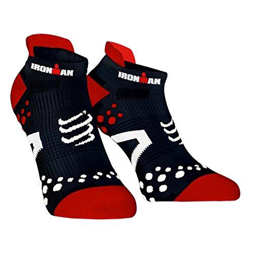 Compressport Calcetines Ironman Pro Racing Socks V2.1 Run Low Negros - T4