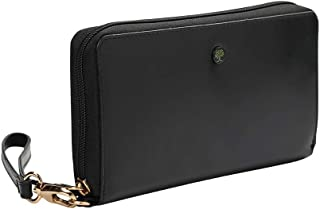 Women RFID Protection Leather Wallet Zip Around Wristlet Purse Card Holder Clutch Phone Wallet from AULIV