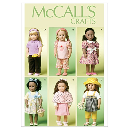 McCall Patterns M6526 18-Inch/46cm Doll Clothes, One Size