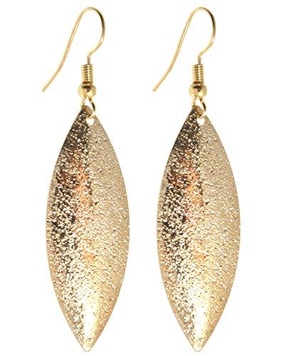 2LIVEfor Statement Ohrringe Gold Tropfen Lang hängend Gross Ohrringe Bohemian Ohrhänger Blatt Tropfenform