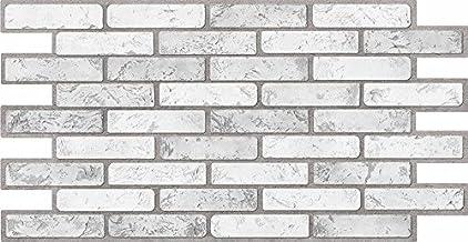 Paneles de pared de plástico PVC 3D azulejos decorativos revestimiento – ladrillo luz (paquete de 36 piezas/16,56 m²)