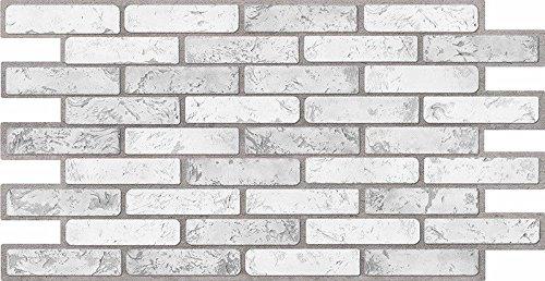 Paneles de pared de plástico de PVC 3D decorativos azulejos revestimiento - luz de ladrillo (paquete de 10 piezas/4.6 sqm)