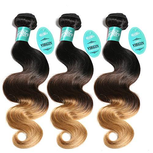 SS cheveux brésiliens 100% Vierges 30,5–66 cm chooseable 7 A + + de qualité Body Wave trames (Lot de 3, # 1b # 4 # 27)