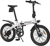 Bicicleta eléctrica de Nieve, Bicicletas eléctricas Plegables para Adultos, Marco de Aluminio Plegable E-Bicicletas, Frenos de Disco Dual con 3 Modos
