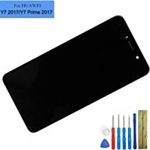 New LCD Touch Screen Assembly Compatible with Huawei H1711 Ascend XT2 TOR-A1/Y7 Prime 2017 TRT-TL00/ENJOY 7 Plus/Nova Lite+ TRT-LX1 L21A L21X LX3 with Frame Black + Adhesive + Tools