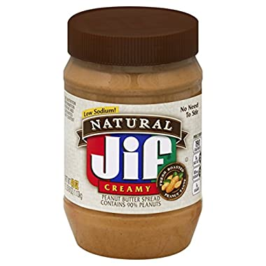 Jif Natural Creamy Peanut Butter Spread, 40 oz (Pack of 8)