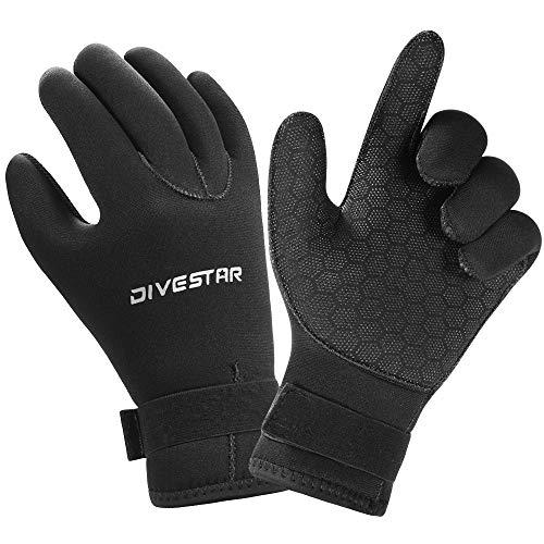 Wetsuit Gloves Neoprene Scuba Diving Gloves Surfing Gloves 3MM 5MM for Men Women Kids, Thermal Anti Slip Flexible Dive Water Gloves for Spearfishing Swimming Rafting Kayaking Paddling (3MM, L)
