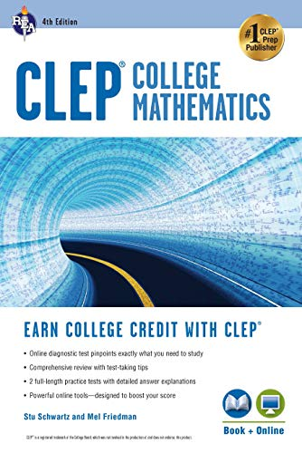 CLEP® College Mathematics, 4th Ed., Book + Online (CLEP Test Preparation)