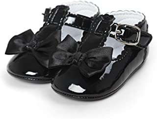 LACOFIA Chaussure Bowknot Premier Pas Fille Ballerine Bebe Fille avec Semelle antidérapante Douce