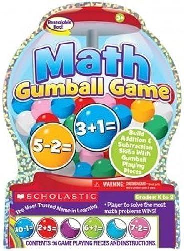 Todo en alta calidad y bajo precio. Scholastic Math Gumball Game K to 2, Addition & Subtraction Subtraction Subtraction Skills with Gumball Playing Pieces by Scholastic  punto de venta en línea