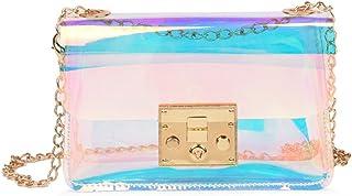 Mini Hologram Clear Cross Body Purse Shoulder Bag Handbag for Women