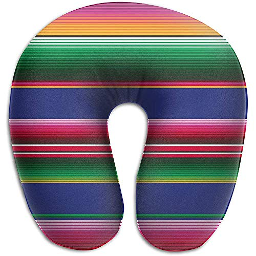 Sonder-Shop U-Förmiges Kissen Nackenkissen Für Nackenschläfer Cervical Head Nackenstützkissen- (Novel Mexican Blanket Stripes)