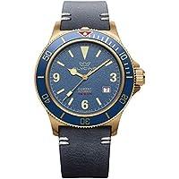 Glycine Combat Vintage Analog Automatic Men's Watch with Leather Bracelet (GL0266)