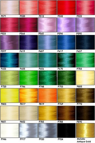 40-cone Polyester Embroidery Thread Kit - 40 Cartoon colors - 1100 yards - 40wt