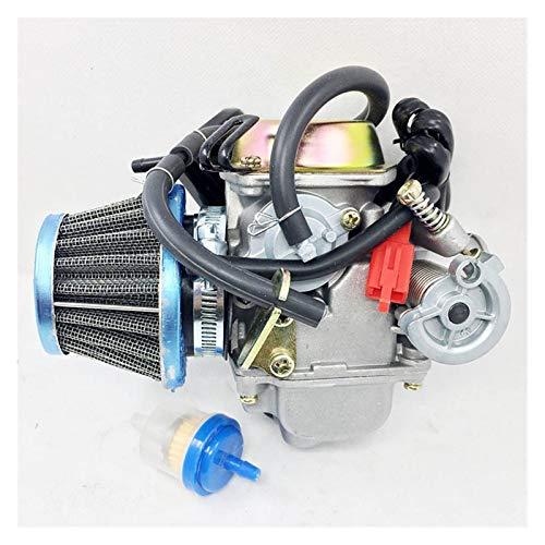 1 pieza nueva fibra de carbono de carburador con filtro para GY6 150cc Scooter Roketa Sunl Kart Gy6 PD24 Adecuado para la mayoría de las marcas