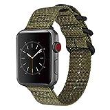 藤本電業 Apple Watch ナイロンバンド 40mm 38mm カーキ WAB-03KH40