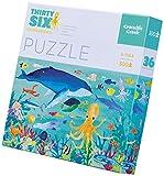 Crocodile Creek- Thirty-Six Ocean Animals Jigsaw Puzzle Rompecabezas de Piso (4068-3)