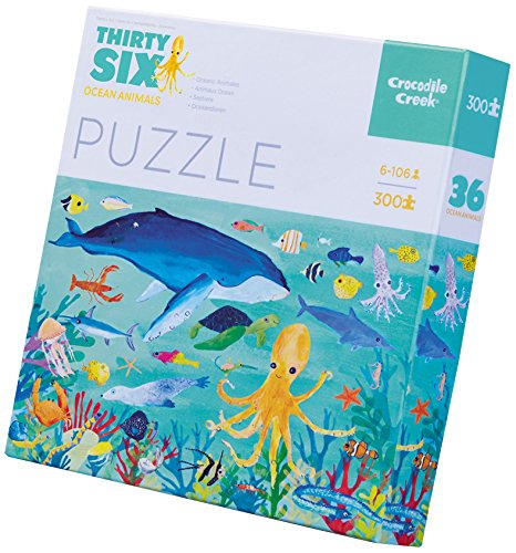 Crocodile Creek- Thirty-Six Ocean Animals Jigsaw Puzzle Rompecabezas de Piso (4068-3) (Juguete)