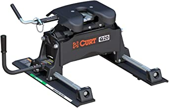 CURT 16536 Black Q20 5th Wheel Slider Hitch for Short Bed Trucks, 20,000 lbs