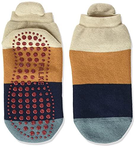 FALKE Unisex Kinder Colour Block K HP Hausschuh-Socken, Beige (Sand Mel. 4650), 35-38 (9-12 Jahre)