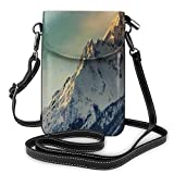Jiger Women Small Cell Phone Purse Crossbody,Winter Mountains Panorama Style Scene With Ski Slopes Caucasus European Landscape