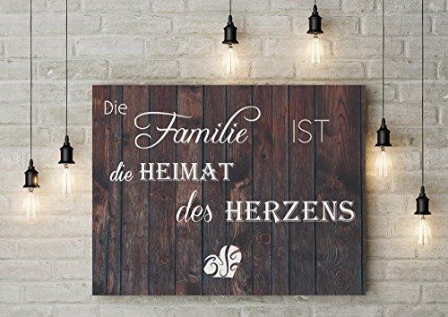 70x50 Kunstdrucken mit Sprüche und Zitate Familie, Liebe, Heimat, Motto, Wanddeko & phrase, citation