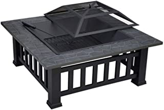 Outdoor Barbecue Fire Pit Ice Pit BBQ Table Grill
