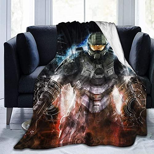 Manta de microfibra de forro polar Halo The Master Chief Collection Poster 60 x 50 pulgadas, manta de franela de verano, aire acondicionado súper suave, manta impresa en 3D para el hogar o la cama.