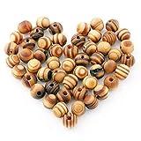 H2okp-009 100 perline in legno sciolto da 8 mm per gioielli fai da te collana orecchini braccialetto mestiere e Legno, colore: 1#, cod. F4X77THFB2VW