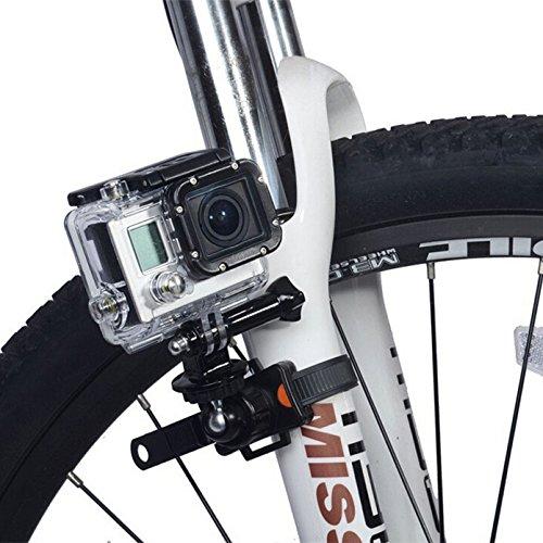 rotatif Vélo Sangle de fermeture Éclair de libération rapide support de fixation pour GoPro Hero 4 3 + 3 2 Xiaomi Yi Sports Camera Colliers de serrage