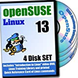 OpenSuse 13 Linux 4-Disk DVD komplettes Installations- and Referenz
