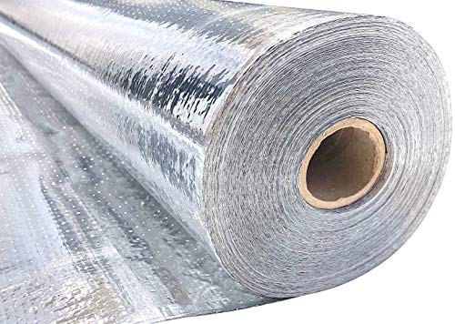 home insulations SmartFOIL- 4ft x 250ft Industrial Grade Radiant Barrier 1000 sq. ft roll - Attic Foil, House Wrap, Reflective Insulation - Perforated, Breathable - Engineered FOIL (Blocks 95% of Radiant Heat)