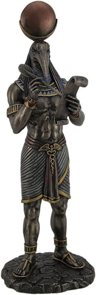 Resin Statues Thoth Award-winning store Egyptian Free Shipping New God Of With And Wisdom Papy Writing
