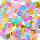 Shappy 1 Pulgada de Confeti de Papel de Seda Redondo de Multicolor para Decoración de Fista de Boda Cumpleaños, 6000 Piezas