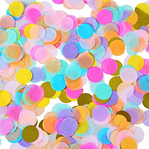 1 Zoll Mehrfarbige Runde Tissue Confetti Konfetti für Hochzeit Geburtstagsfeier Dekoration, 6000 Stück