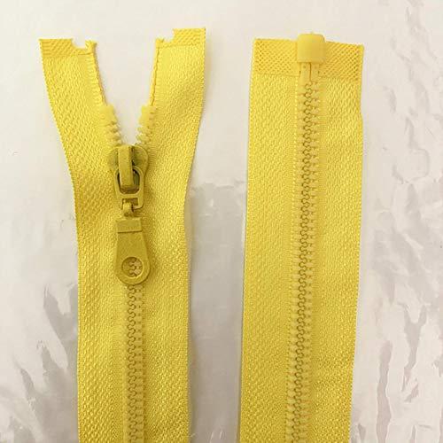GoGOO 20pcs 5# 25-70cm Resina Desmontable Cremallera Abertura Apertura automática Bastidor de plástico de Bloqueo ecológico para Traje de Costura