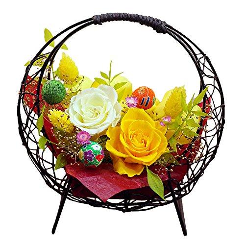 サウンドアレンジ 花つづり(ひまわり色) プリザーブドフラワー プレゼント 花 ギフト