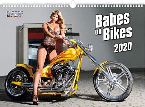 BIKER NEWS Wandkalender, Babes on Bikes 2020, limitierter Kalender mit 13 verführerischen Ladys & heißen Motorrädern, sexy Kalender für Biker