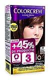 Colorcrem Color & Brillo - Tinte Permanente Mujer - Tono 77 Marrón Glacé Claro, con Tratamiento Nutri-Protector al Aceite de Argán. + 45% de Producto | Disponible en más de 20 Tonos.