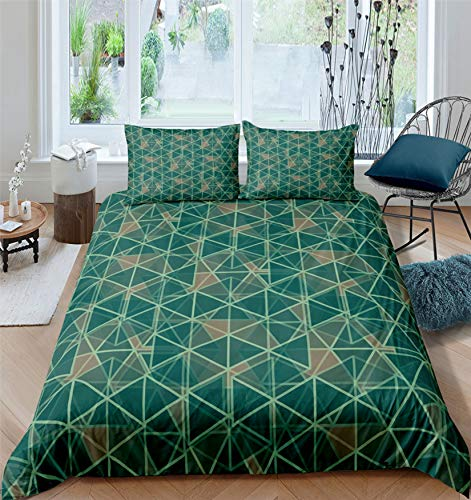 MGORJGR 3D Printed Geometric bedding set Fashion Comforter Cover set with Pillowcase Plaid Duvet Cover set Queen King Size