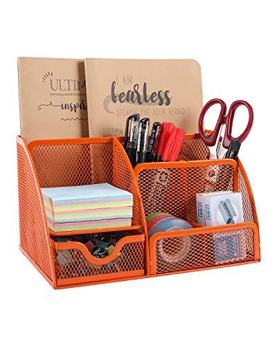 EasyPAG Mesh Office Stationery Desk Tidy Organiser 5 Storage...