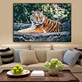 Rahmenlose Malerei Poster Wandkunst Tier Tiger Leinwand Malerei Wohnzimmer Wohnkultur WandbildZGQ6545 30X45cm