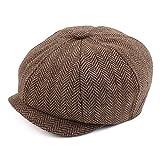 Pesaat Newsboy - Gorras para niños pequeños y niños, gorra de conductor de tweed vintage plana Pageboy sombreros 2-5 años