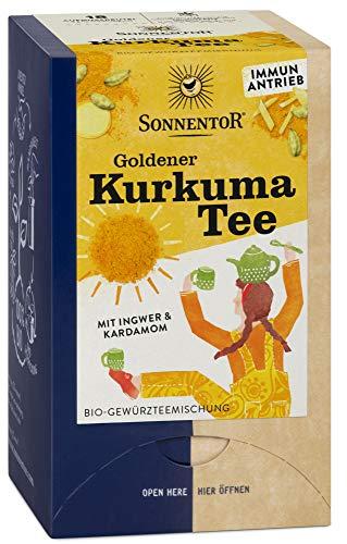 Sonnentor Bio Goldener Kurkuma Tee bio Doppelkammerbeutel (6 x 18 Btl)