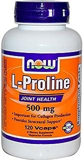 Now Foods, L-prolina, 500 mg, 120 capsule vegetali
